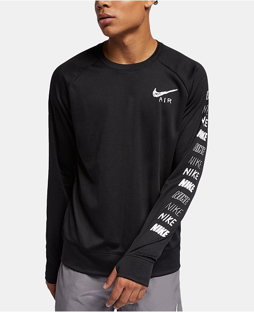 Nike Men's Pacer Dri-FIT Long-Sleeve Running T-Shirt & Reviews - T .