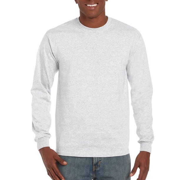 Gildan - Gildan Mens Ultra Cotton Classic Long Sleeve T-Shirt .