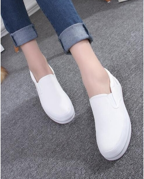 2016 Spring Fashion Women's Shoes Slip on Loafers Canvas Shoe .