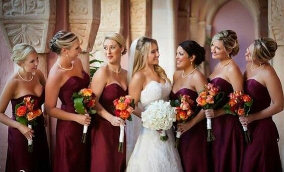 Bright Burgundy and Orange Fall Wedding Color Ideas | Wine color .