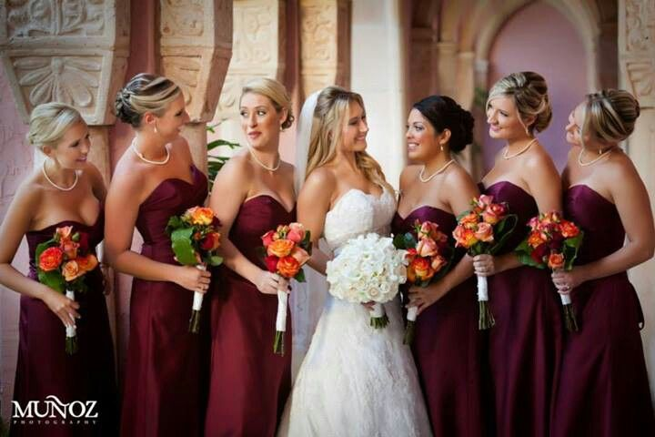 Love these bridesmaid dresses! Don't have to be strapless though .