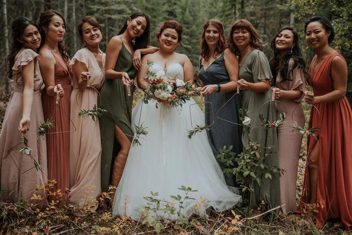 Let the Earthy Autumnal Tones in this No Business Lodge Wedding in .