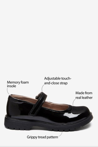 Buy Black Patent Leather Chunky Mary Jane Shoes (Older) from Next U