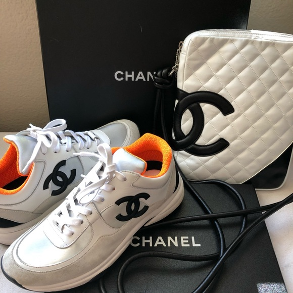 CHANEL Bags | White Cc Purse White Sneakers Set Auth | Poshma