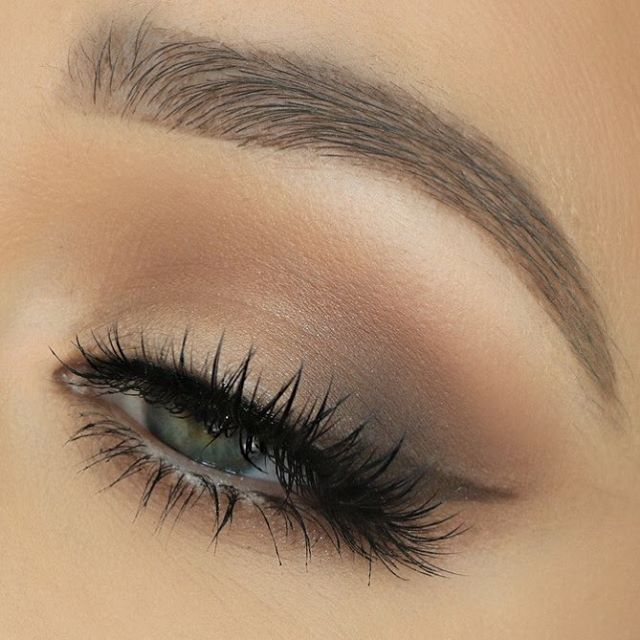 Soft Wing using the Too Faced Natural Matte Eyes Palette. Lashes .
