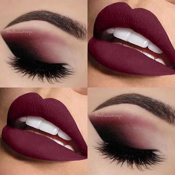 Matte makeup on burgundy - LadySty