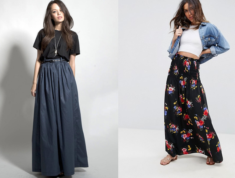 13 Gorgeous Ways to Wear a High Waisted Maxi Skirt - FMag.c