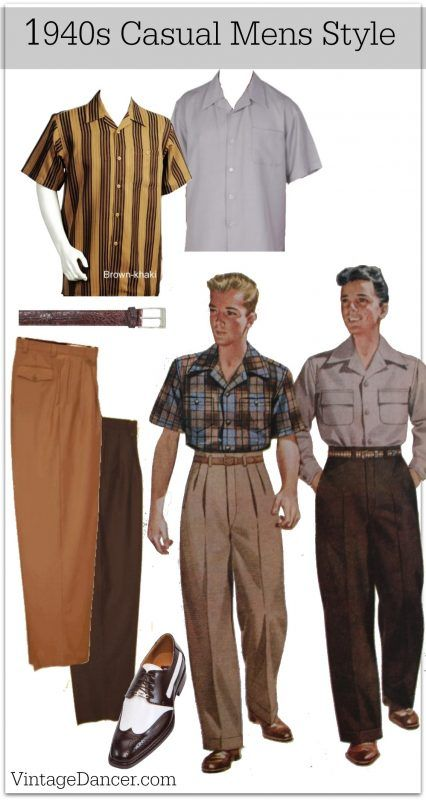 1940s Men's Outfit & Costume Ideas | 1940s mens fashion, 1940s .