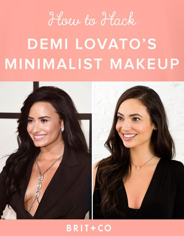 How to Hack Demi Lovato's Minimalist Makeup from the Grammy Awards .