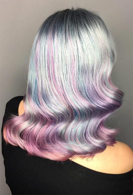 Mother-of-Pearl Hair Trend: 53 Iridescent Pearl Hair Colors to Dye f