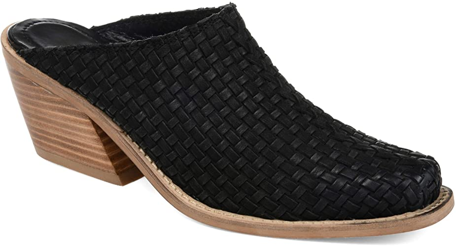 Amazon.com | Journee Signature Womens Quinn Genuine Leather Mule .