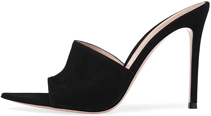 Amazon.com | Amy Q Open Pointed Toe High Heel Mules Sexy Sandals .