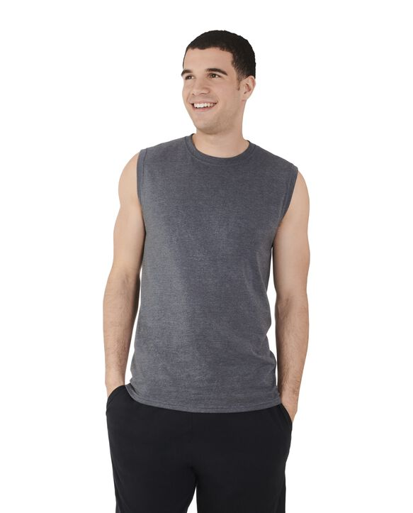 Big Men's Dual Defense UPF Sleeveless Muscle Shirt | Fru