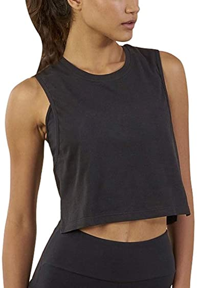 Bestisun Cropped Workout Tops for Women Crop Top Workout Shirts .