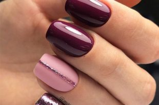 65+ Must Try Fall Nail Designs And Ideas | Simple nails, Purple .
