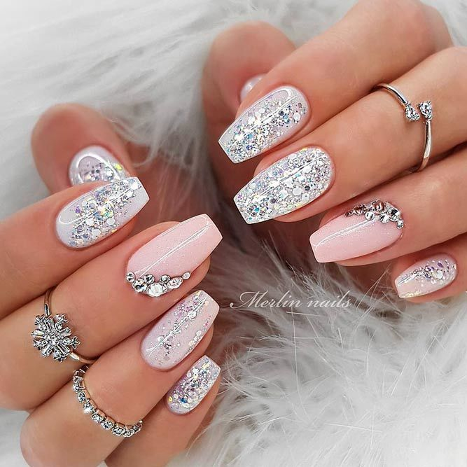 40+ Trendy Short Coffin Nails Design Ideas | NailDesignsJournal.c