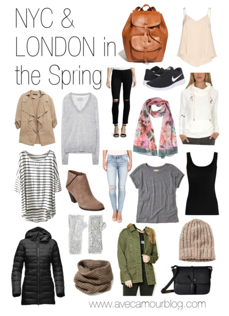 Packing for New York & London in the Spring in a Carry On | Travel .