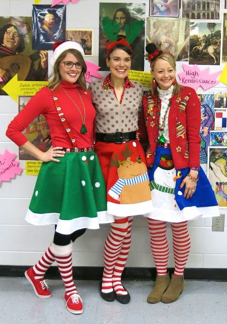 What the Art Teacher Wore #153 | Tacky christmas party, Diy .