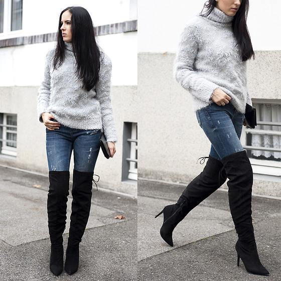 The Day Dreamings - Primark Overknees Boots, Zara Sweater, Zara .