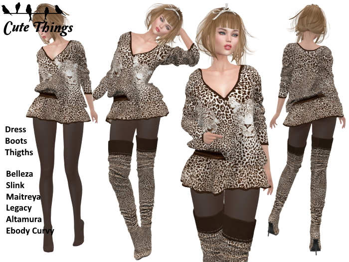 "Second Life Marketplace - [CT] ""Sweet like a Tiger"" Brown Outfit ."