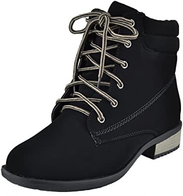 Amazon.com | KSC Womens Ankle Boots Lace Up Ankle Padded Hiking .