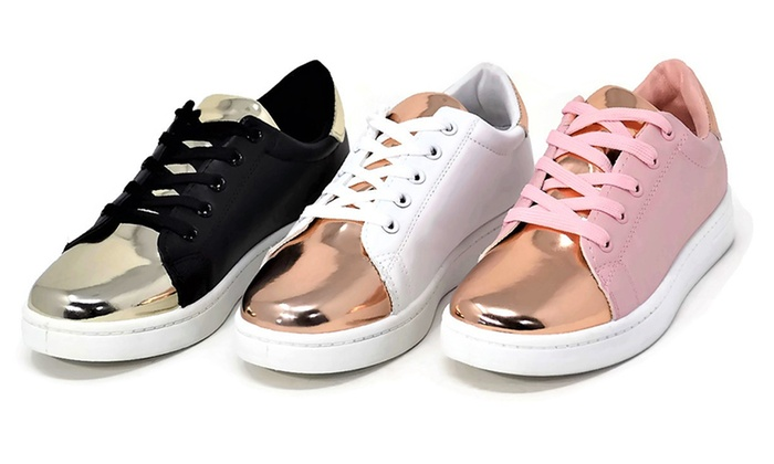 Up To 75% Off on Mata Women's Two-Tone Sneakers | Groupon Goo