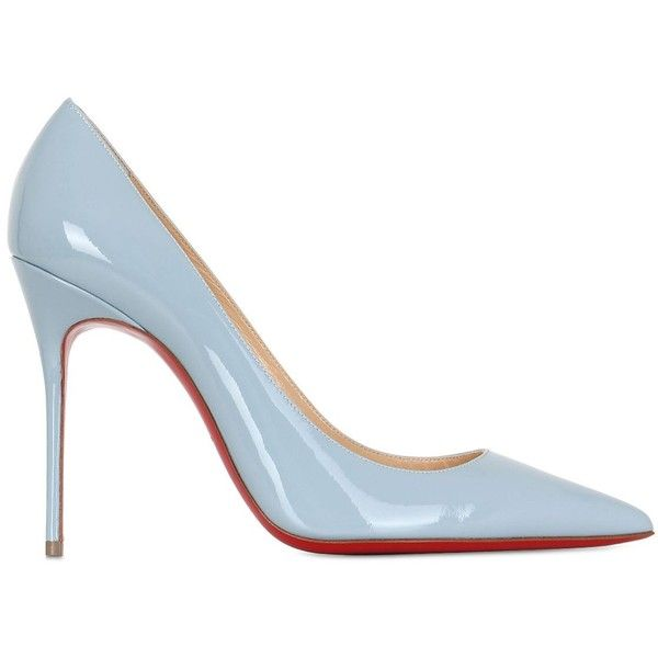 CHRISTIAN LOUBOUTIN 100mm Decollete 554 Patent Leather Pumps .