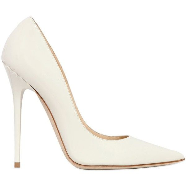 JIMMY CHOO 120mm Anouk Patent Leather Pumps ($297) ❤ liked on .