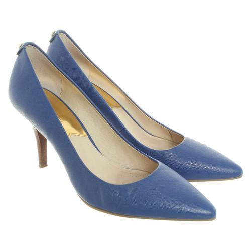 Michael Kors Pumps/Peeptoes Leather in Blue - Second Hand Michael .