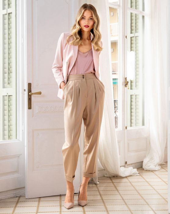 High Waist Pleated Trousers 09/2019 Burda Style September 2019 .