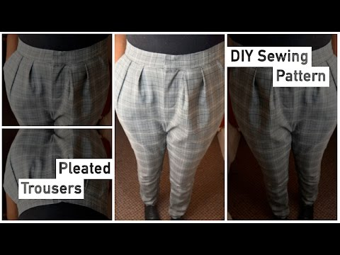 Pattern Drafting Tutorial – Pleated Trousers • Elewa - YouTu