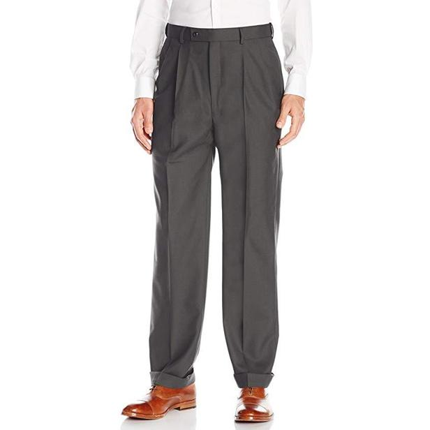 100% Wool Hart Schaffner Marx Pleated Pants - Penne