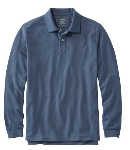 Men's Premium Double L® Polo, Long-Sleeve Without Pock