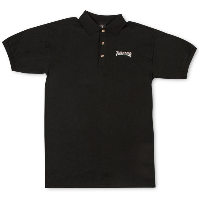 Thrasher Magazine Shop - Embroidered Thrasher Logo Polo Shi