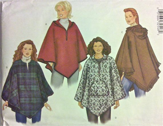 Pin by Sew-lutions on Sewing | Poncho pattern sewing, Sewing coat .