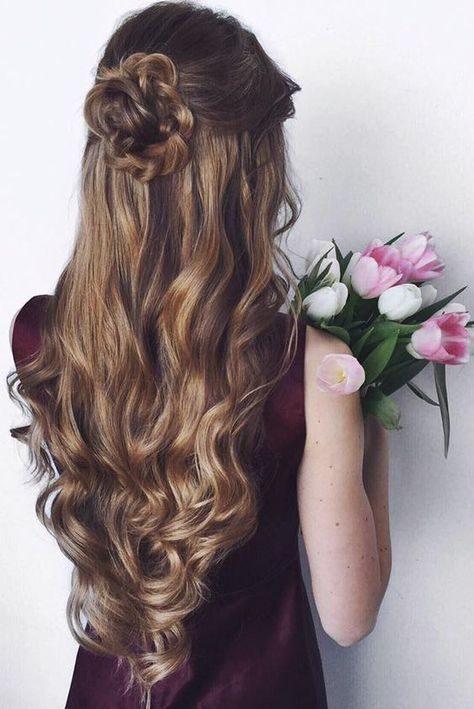 20 Beautiful Half-up Wedding Hairstyles — the bohemian wedding .
