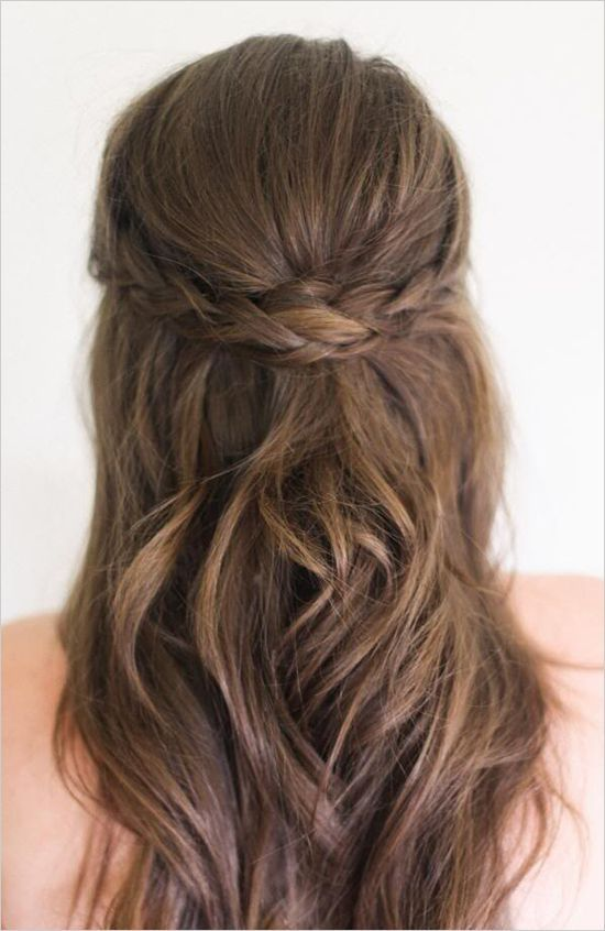 10 Gorgeous Half-Up, Half-Down Wedding Hairstyles | Medium hair .
