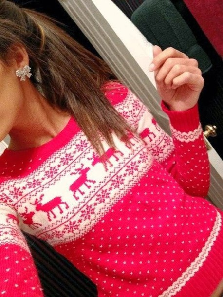 sweater, clothes, christmas sweater, tumblr girl, tumblr sweater .