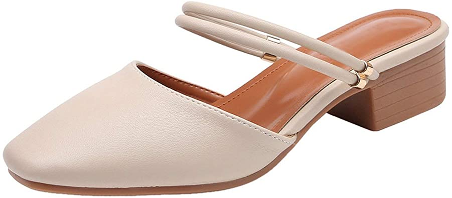 Amazon.com | Women Sandals Heels Pumps for Ladies Summer Shoes .