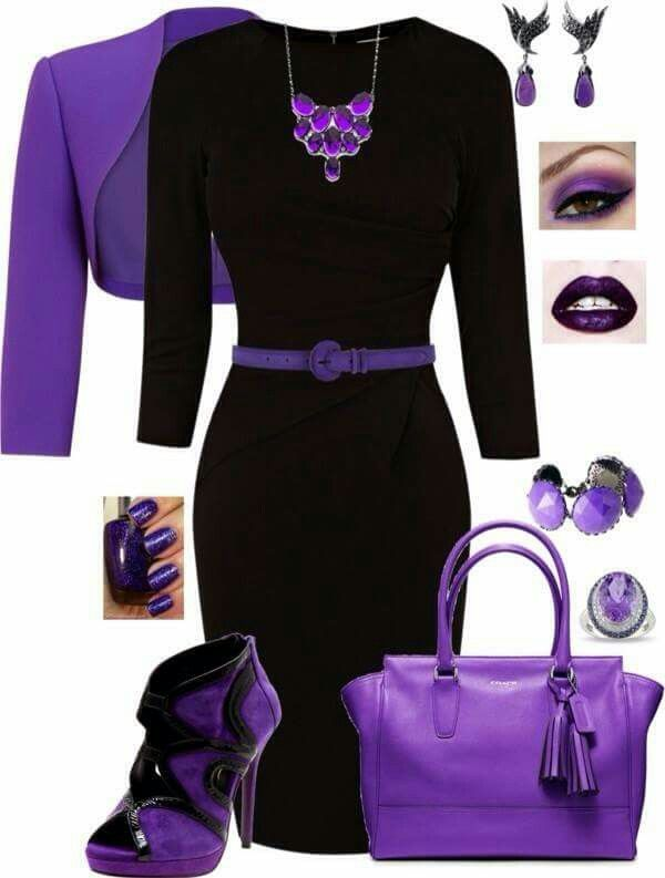 purple and black outfits | Purple fashion, Fashion, Fashion outfi