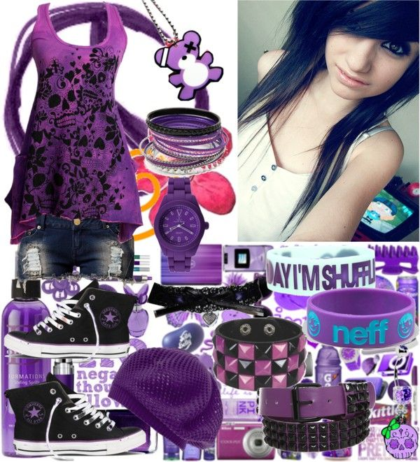 Scene/Emo Outfits #1: Purple | Cute emo outfits, Scene outfits .