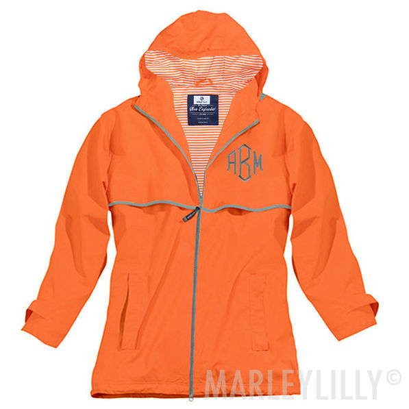 Monogrammed Rain Jacket - Women's New Englander Jacket with Ho
