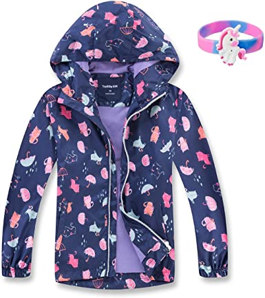 Amazon.com: MGEOY Girls Rain Jackets Lightweight Waterproof Hooded .