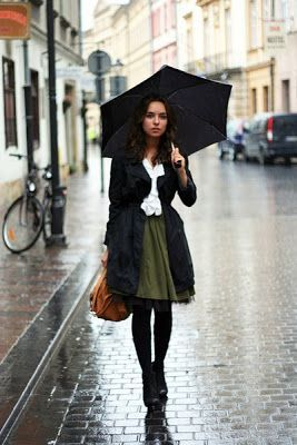 Rainy Day Style Inspirations in 2020 (With images) | Rainy day .