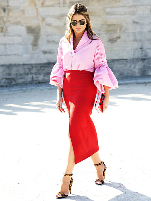 How To Wear Pink + Red, The Colour Combo That's Having A Moment .