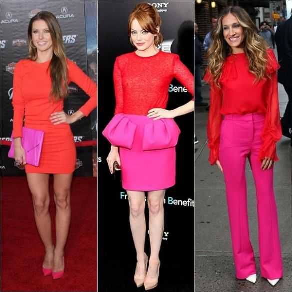 red and pink combination