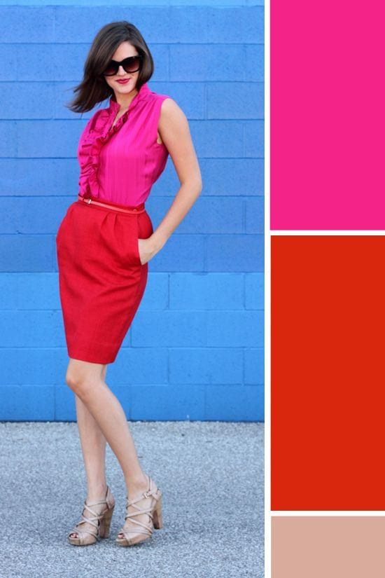 Red and Pink Combination – How To Wear a Red and Pink Outfit .