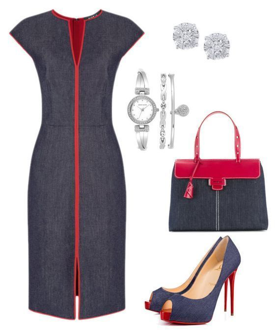Red Denim Dress Ideas in 2020 | Stylish work outfits, Chic outfits .