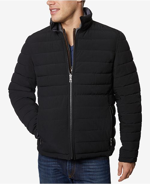 Nautica Men's Big & Tall Mid-Weight Stretch Reversible Puffer .