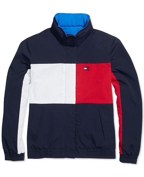 Tommy Hilfiger Women's Reversible Jacket With Magnetic Zipper .